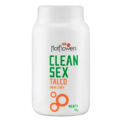 TALCO CLEAN SEX - LINHA CYBER 40G HOT FLOWERS