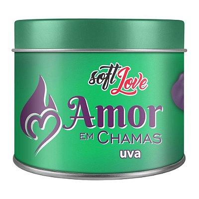 AMOR EM CHAMAS VELA HOT BEIJÁVEL UVA 50GR - SOFT LOVE