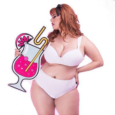 Sutiã Plus Size Alça Comfort Branco Taça A