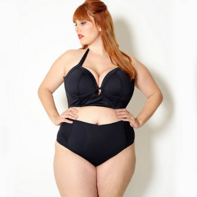 Top Biquíni Top Plus Size Cropped Preto