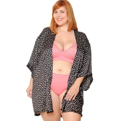 Kimono Plus Size Poá