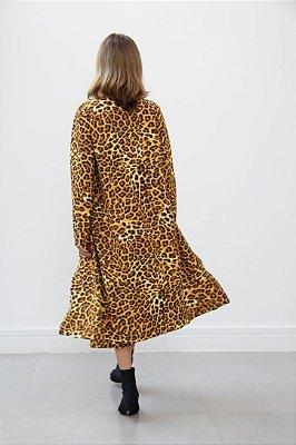 Casaco capa manga longa