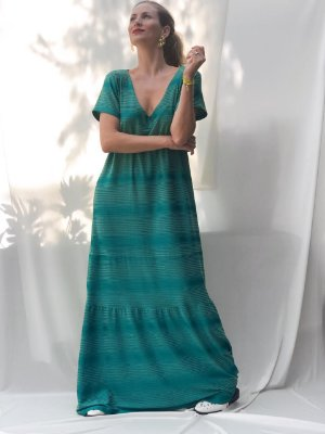 Vestido malha longo