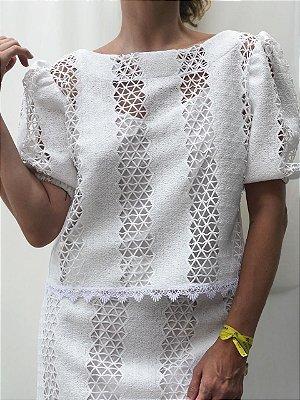 Blusa renda guipier