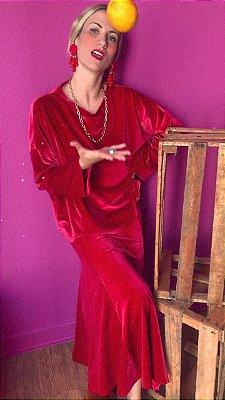 Blusa Veludo Vermelho