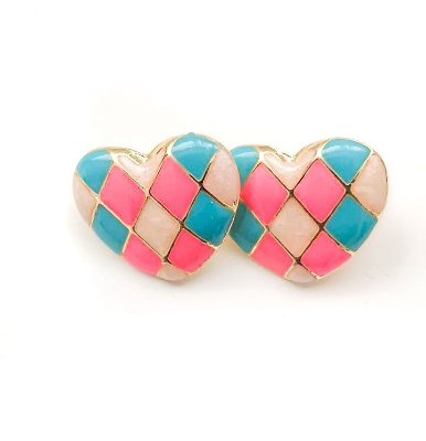 Brinco Mosaico de Coração