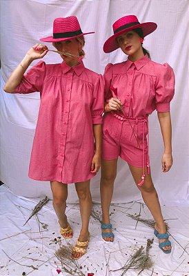 Vestido Manga Bufante Azaleia