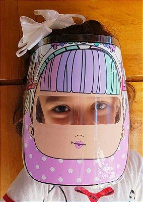 Mascarinhos - Mascara Protetora Facial Infantil LOL - face Shield