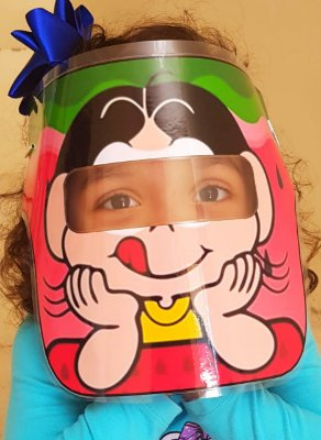 Mascarinhos - Mascara Protetora Facial Infantil Magali - face Shield