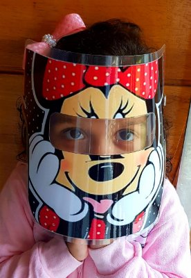 Mascarinhos - Mascara Protetora Facial Infantil- MINNIE - face Shield