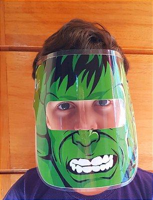 Mascarinhos - Mascara Protetora Facial Infantil- HULK - face Shield