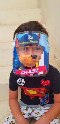 Mascarinhos - Mascara Protetora Facial Infantil- CHASE PATRULHA CANINA - Face Shield