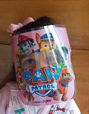 Mascarinhos BABY - Mascara Protetora Facial - PATRULHA CANINA- ROSA- Face Shield BABY