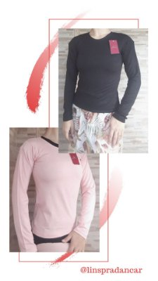 Blusa manga longa (cores)