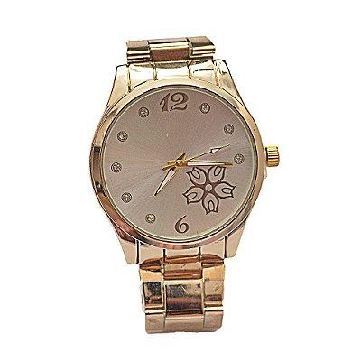 b8391458c0f Relógio Feminino Stainless Fundo de Tela com Florzinha