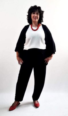 Calça cós duplo/Regata básica/Casaqueto básico