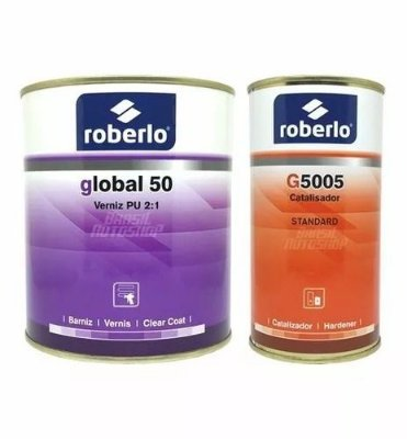 Verniz Global 50 HS 900ml com Catalisador - Roberlo