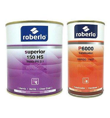 Verniz 150HS verniz PU 2:1 900ml com Catalisador - Roberlo