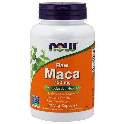 Maca Peruana 750mg Raw Ultra Concentrada Now Foods Importada 90 Cápsulas Para 3 Meses