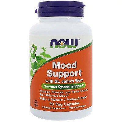 Mood Support Auxílio Para Ansiedade e Depressão Alta Potência Now Foods Importado 90 cápsulas