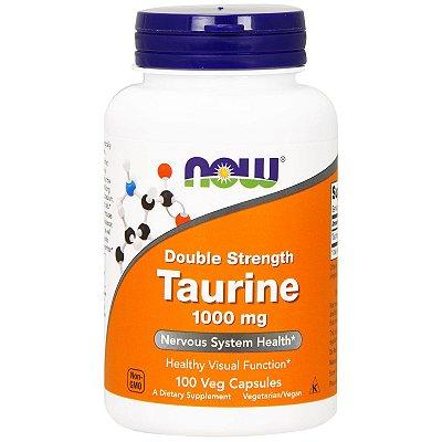 Taurina 1000mg Alta Potência Now Foods Importada 100 Cápsulas Para 3 Meses