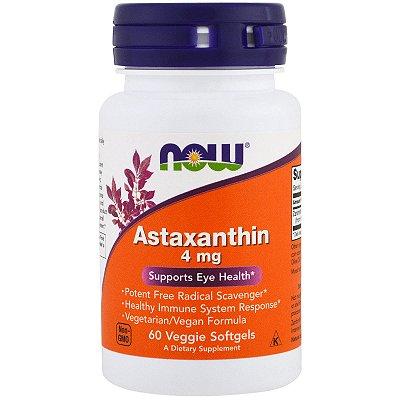 Astaxantina 4mg Now Foods 60 Softgels Importado Marca de Referência