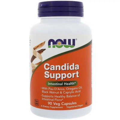 Candida Support Now Foods Original Importado Saúde Intestinal 90 cápsulas