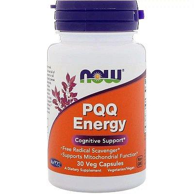PQQ Energy Now Foods Estímulo Cognitivo BioPQQ Energia Celular Com Coenzima Q10 30 Cápsulas