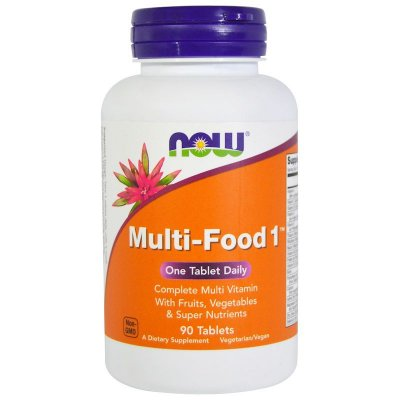 Multi-Food Now Foods Original Importado 90 Tablets Para 3 Meses Multivitamínico