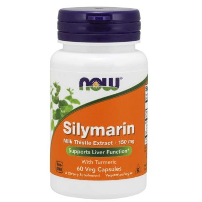 Silimarina 150mg Now Foods 60 Cápsulas Original Importado
