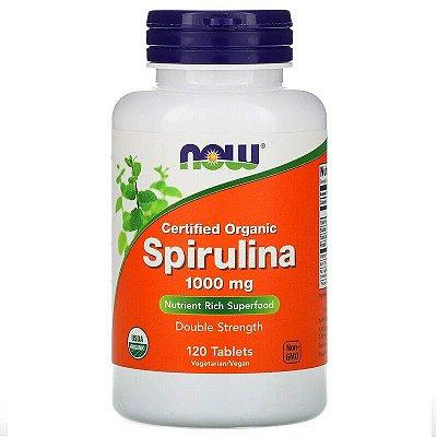 Espirulina Spirulina 1000mg Now Foods Original Importada 120 Tablets Para 4 Meses de Uso