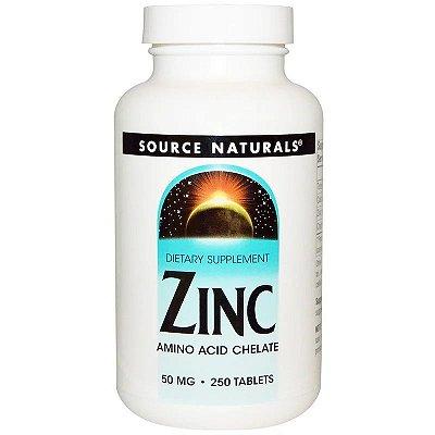 Zinco 50mg Quelato Importado Original Imunidade Antioxidante Testosterona 250 Comprimidos Para 8 Meses De Uso