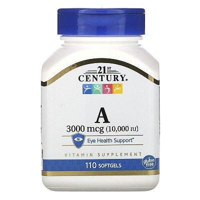 Vitamina A Retinol 3.000 mcg 10.000ui 21st Century Visão Gravidez Gestantes Original Importada 110 Softgels