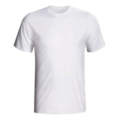 Camiseta Branca Premium Tradicional 100% Poliéster ( SEM TRANSPARÊNCIA)