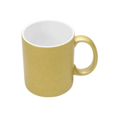Caneca com Glitter para Sublimação - Dourada
