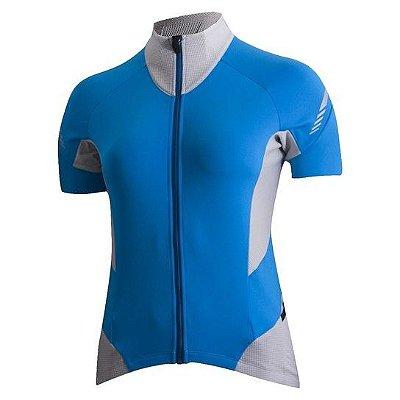 Camisa Shimano Cicle Escape Feminina - Azul e Cinza