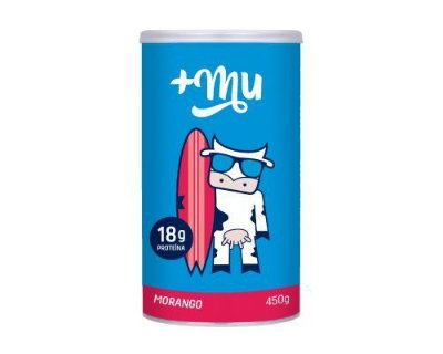 Whey Morango Mais Mu - 450g