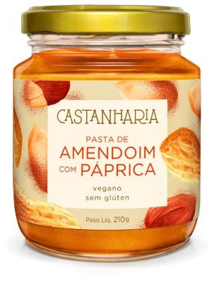 Pasta de Amendoim com Páprica Castanharia - 210g
