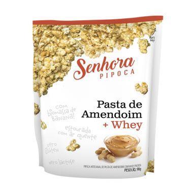Senhora Pipoca Pasta de Amendoin + Whey - 90g