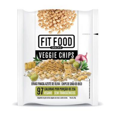 Veggie Chips Grão de Bico Ervas Finas e Azeite de Oliva Fit Food - 40g