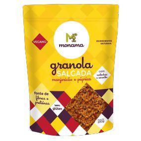 Granola Salgada Manjericão e Páprica Monama - 200g