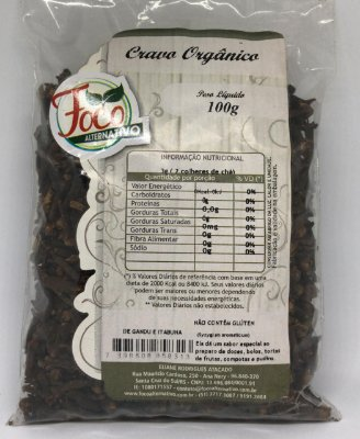 Cravo da India Organico Foco Alternativo - 100g
