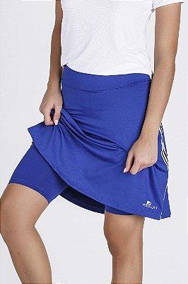 Saia Shorts Fitness Evangélica Epulari Azul Royal