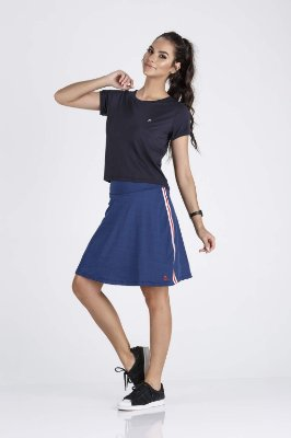 Saia Shorts Fitness Evangélica Azul Epulari