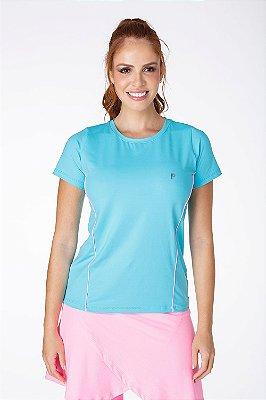T-Shirt Em Poliamida Azul Claro UV+50 Epulari