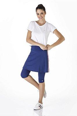 Saia Calça Azul Marinho Fitness Evangélica Com Galão Epulari