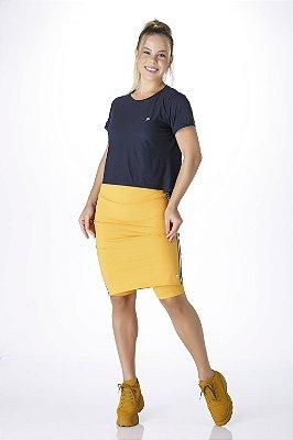 Saia Shorts Mostarda Moda Fitness Evangélica UV+50 Anti Celulite Epulari