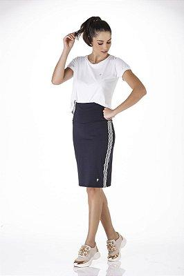 Shorts Saia Cós Alto Poliamida Anti Celulite UV+50 Epulari