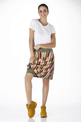 Shorts Saia Estampado Alta Compressão Emana UV+50 Epulari