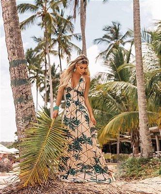 Vestido Longo Frente Única Tropical